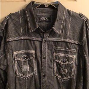Buckle Black Men's long sleeve shirt.